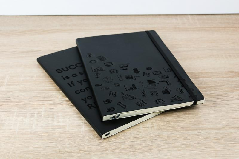 notebook with individual engraving
