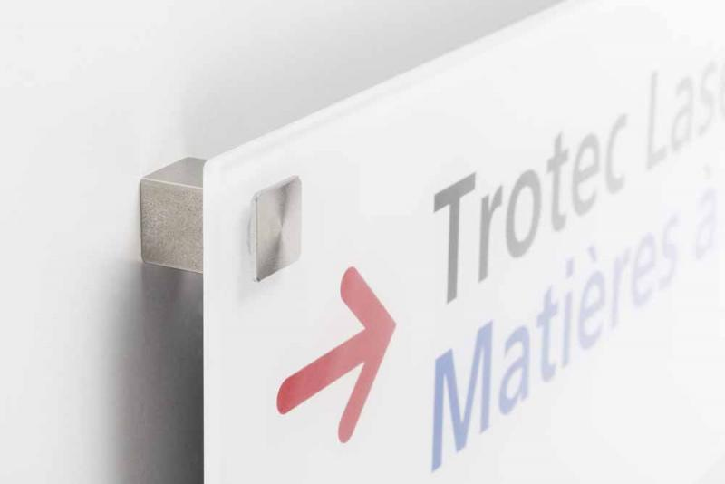 different wall distance holders for high-class signage