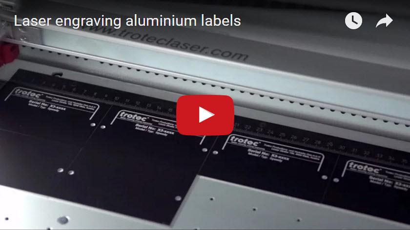 Laser engraving labels